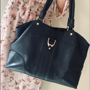 Cole Haan Like New Black Leather Shoulder Bag